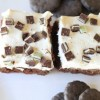 Thin Mint Brownies with Bailey's Buttercream