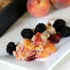 Blackberry-Peach Cobbler with Streusel Topping