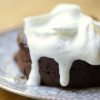 Molten Chocolate Cake with Maple Whipped Cream