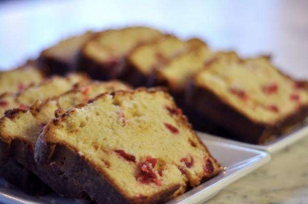 White Chocolate Cherry Pound Cake – DessertedPlanet.com