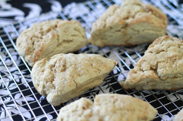 saw this recipe for maple sugar scones over on good life eats and ...