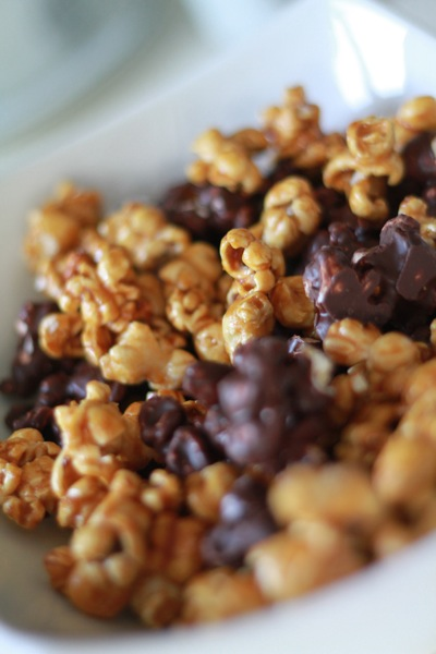 Salted Caramel and Dark Chocolate Popcorn 2