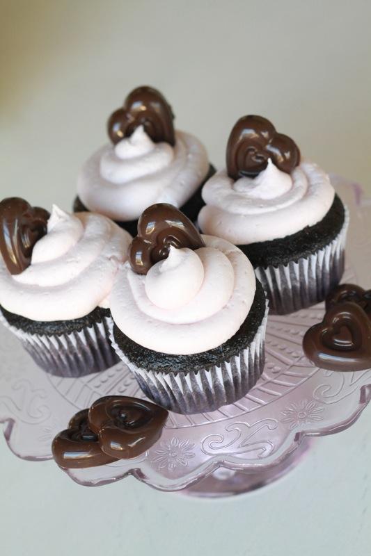 Dark Chocolate Nutella Raspberry Cupcake 1