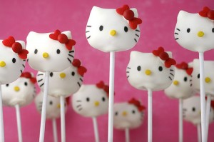 Hello Kitty Cake Pops by Bakerella