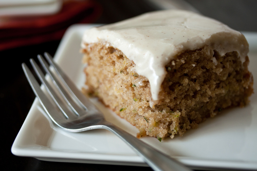 Spiced Zucchini Cake with Maple Cream Cheese Frosting by My Baking ...