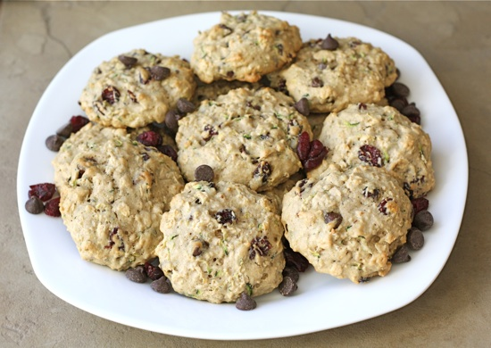 Zucchini Cookies with Chocolate Chips and Dried Cranberries by Two ...