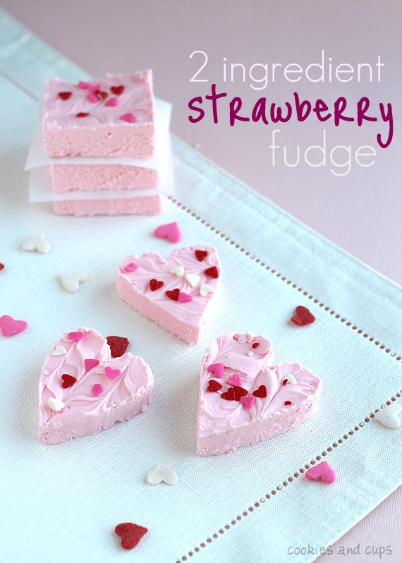 2-Ingredient Strawberry Fudge