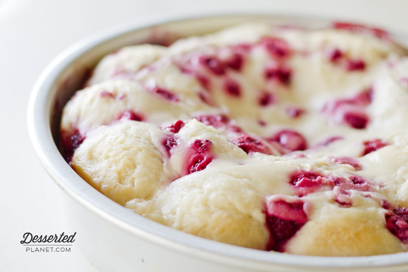 Raspberry Cream Cheese Pull Apart Rolls