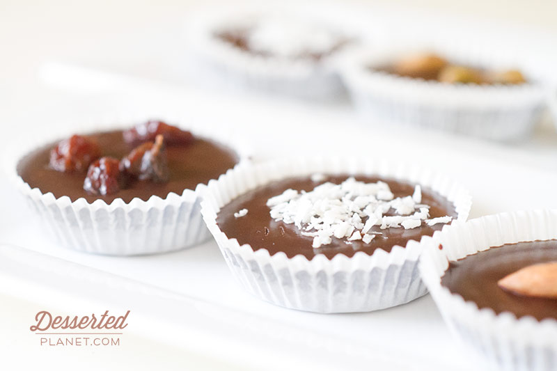 Coconut and Raisin Chocolate Candy Cups