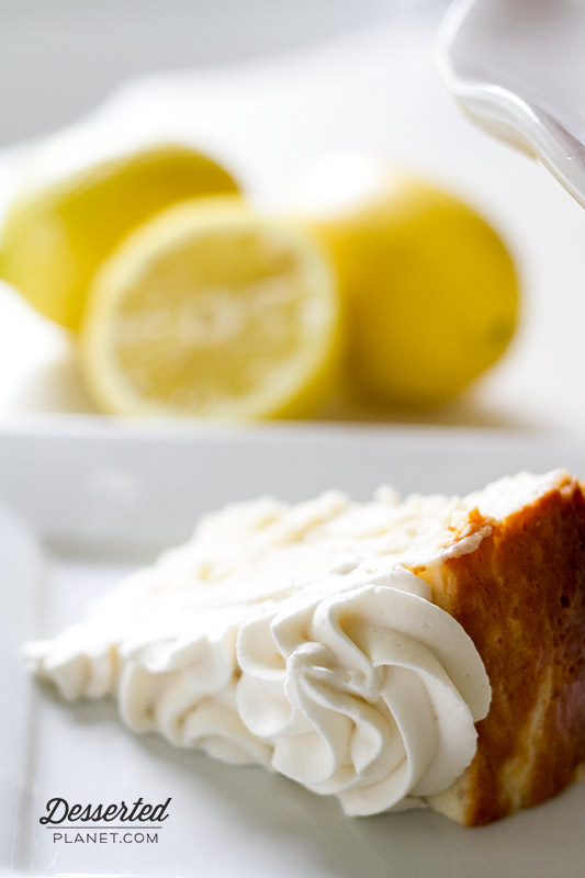 NY Style Lemon Cheesecake Slice