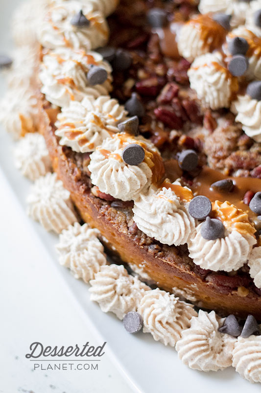 Pumpkin Crunch Cake with Cinnamon Whipped Cream