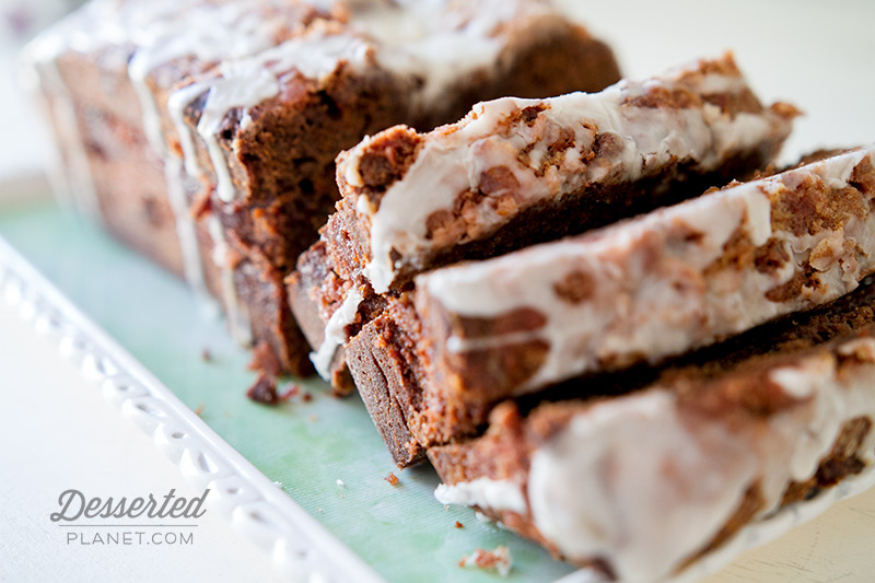 Chocolate Cinnamon Swirl Banana Bread Slices