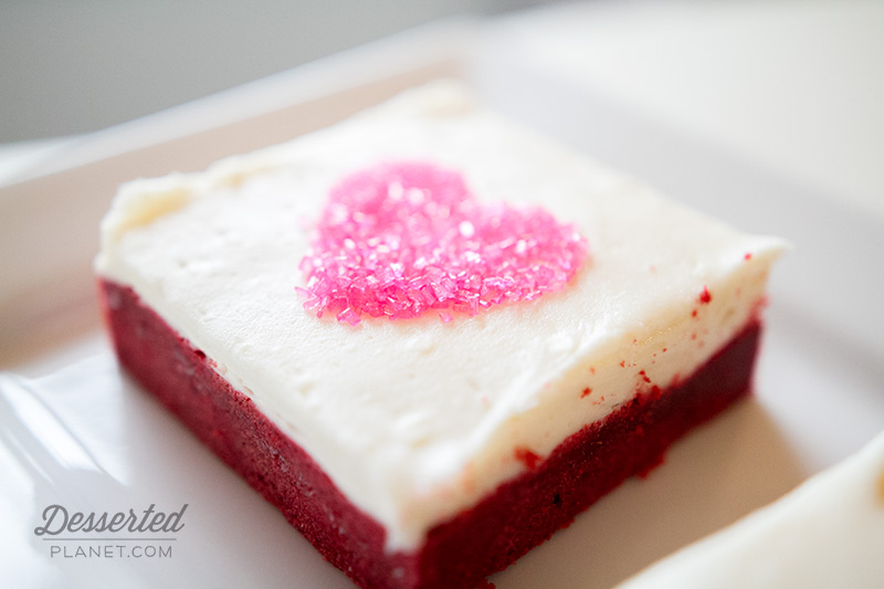 Red Velvet Sugar Cookie Bar