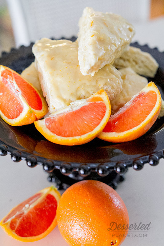 Candied Orange And Golden Raisin Scones Recipe — Dishmaps