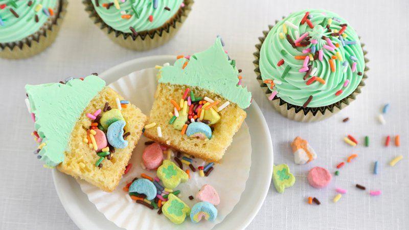 Suprise Inside St. Patricks Cupcakes