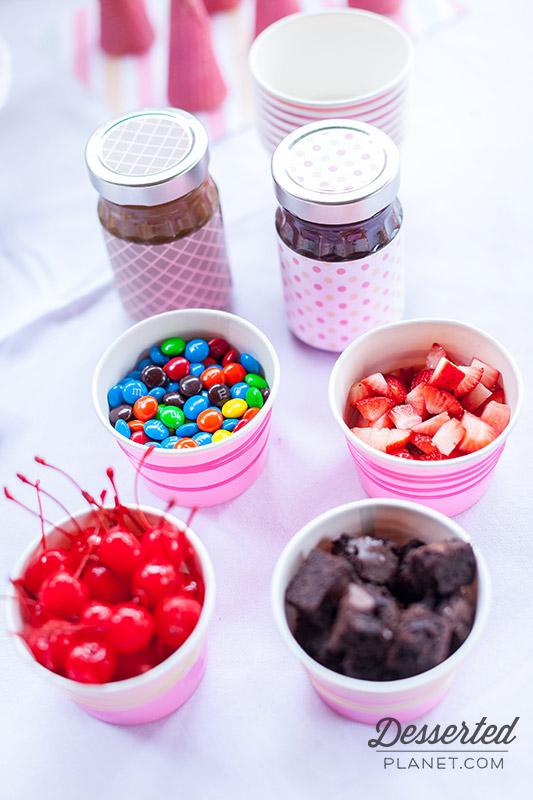 Ice-Cream-Cone-Toppings-Chocolate-Caramel-Sauce